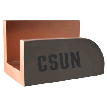 California State University, Northridge-Concrete Business Card Holder-Grey