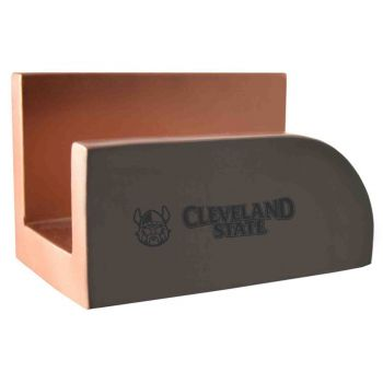 Cleveland State University-Concrete Business Card Holder-Grey