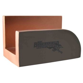 California State University, Bakersfield-Concrete Business Card Holder-Grey
