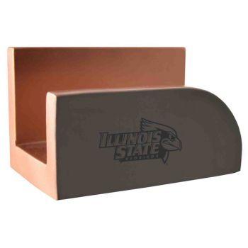 Illinois State University-Concrete Business Card Holder-Grey