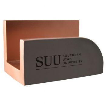 Southern Utah University-Concrete Business Card Holder-Grey