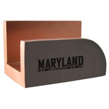 University of Maryland-Concrete Business Card Holder-Grey