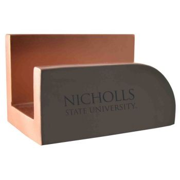 Nicholls State University-Concrete Business Card Holder-Grey