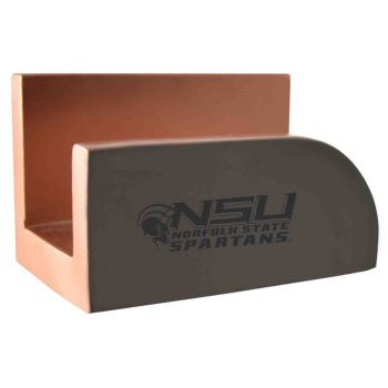 Norfolk State University-Concrete Business Card Holder-Grey