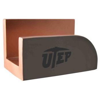 The University of Texas at El Paso-Concrete Business Card Holder-Grey