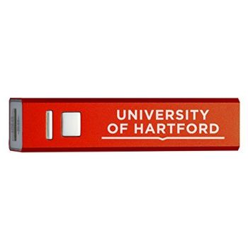 University of Hartford - Portable Cell Phone 2600 mAh Power Bank Charger - Red