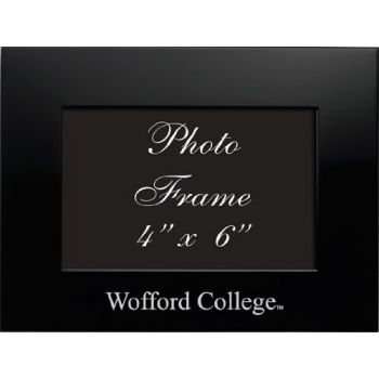 Wofford College - 4x6 Brushed Metal Picture Frame - Black