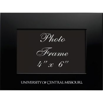 University of Central Missouri - 4x6 Brushed Metal Picture Frame - Black
