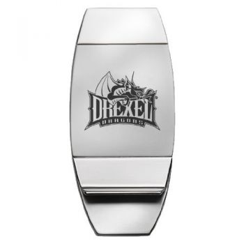 Drexel University - Two-Toned Money Clip - Silver