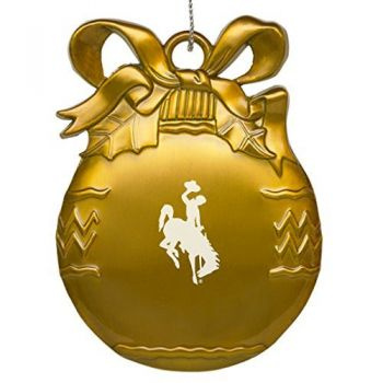 University of Wyoming - Pewter Christmas Tree Ornament - Gold