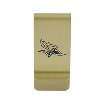 Colorado State University|Money Clip with Contemporary Metals Finish|Solid Brass|High Tension Clip to Securely Hold Cash, Cards and ID's|Silver