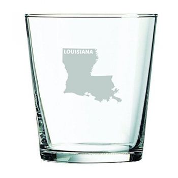 13 oz Cocktail Glass - Louisiana State Outline - Louisiana State Outline