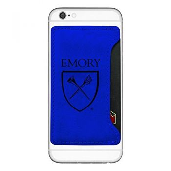Emory University-Cell Phone Card Holder-Blue