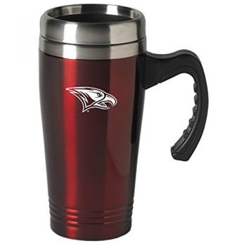 North Carolina Central University-16 oz. Stainless Steel Mug-Burgundy