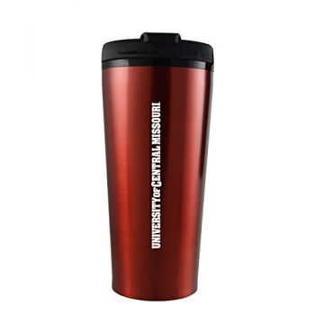 University of Central Missouri -16 oz. Travel Mug Tumbler-Red