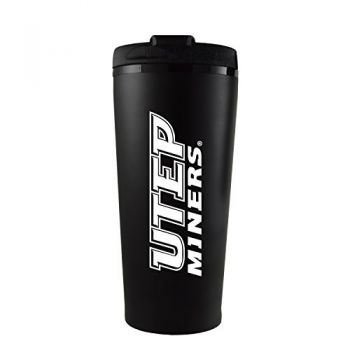 The University of Texas at El Paso -16 oz. Travel Mug Tumbler-Black