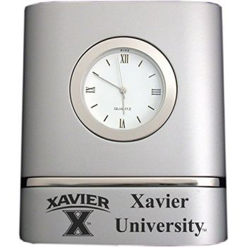 Xavier University- Two-Toned Desk Clock -Silver