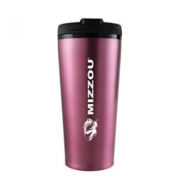 University of Missouri -16 oz. Travel Mug Tumbler-Pink