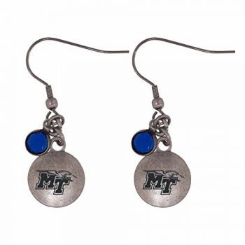 Middle Tennessee State University-Frankie Tyler Charmed Earrings