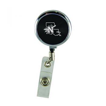 Northwestern State University-Retractable Badge Reel-Black