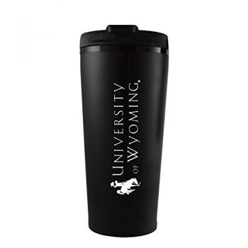 University of Wyoming -16 oz. Travel Mug Tumbler-Black