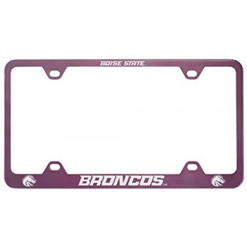 Boise State University -Metal License Plate Frame-Pink