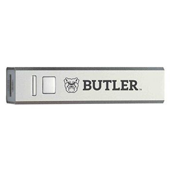 Butler University - Portable Cell Phone 2600 mAh Power Bank Charger - Silver