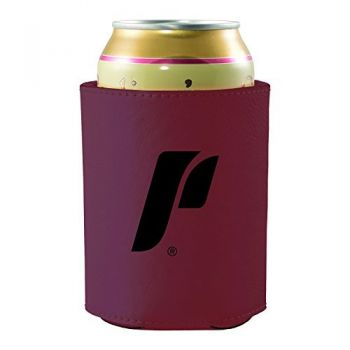 The University of Portland-Leatherette Beverage Can Cooler-Burgundy