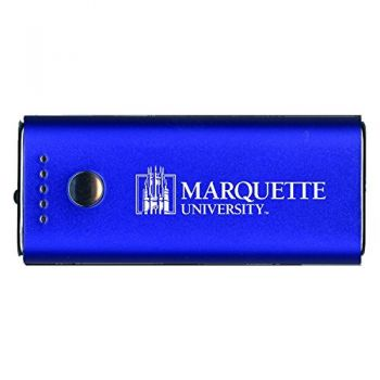Marquette University-Portable Cell Phone 5200 mAh Power Bank Charger -Blue