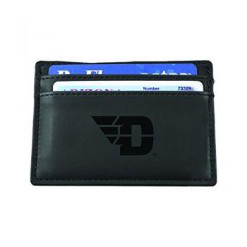 University of Dayton-European Money Clip Wallet-Black