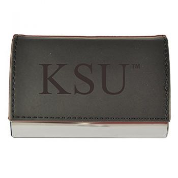 Velour Business Cardholder-Kennesaw State University-Black