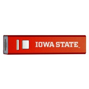 Iowa State University - Portable Cell Phone 2600 mAh Power Bank Charger - Red