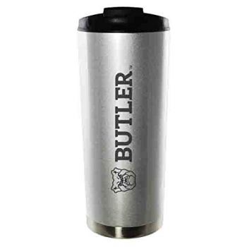 Butler University-16oz. Stainless Steel Vacuum Insulated Travel Mug Tumbler-Silver