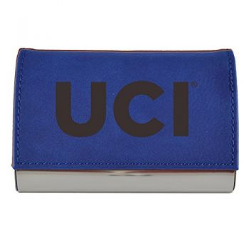 Velour Business Cardholder-University of California, Irvine-Blue
