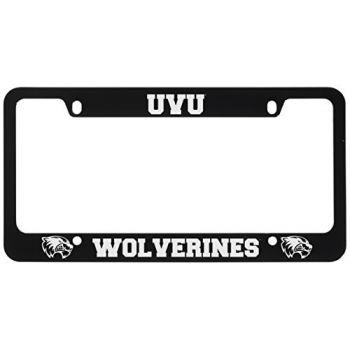 Utah Valley University -Metal License Plate Frame-Black