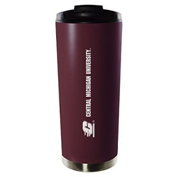 Central Michigan University-16oz. Stainless Steel Vacuum Insulated Travel Mug Tumbler-Burgundy