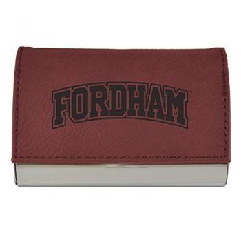 Velour Business Cardholder-Fordham University-Burgundy