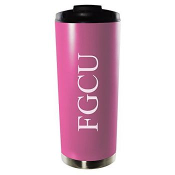 Florida Gulf Coast University-16oz. Stainless Steel Vacuum Insulated Travel Mug Tumbler-Pink