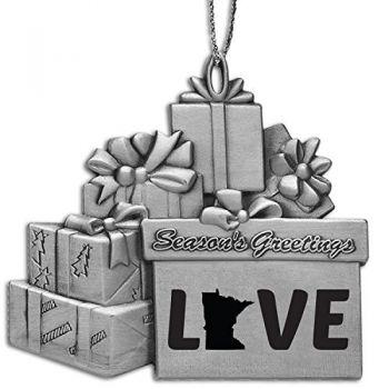 Pewter Gift Display Christmas Tree Ornament - Minnesota Love - Minnesota Love