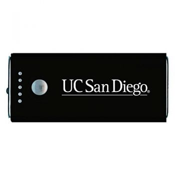 University of California, San Diego-Portable Cell Phone 5200 mAh Power Bank Charger -Black