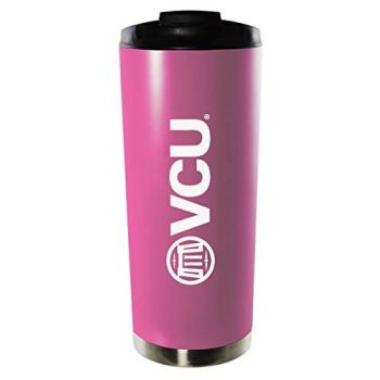 Virginia Commonwealth University-16oz. Stainless Steel Vacuum Insulated Travel Mug Tumbler-Pink