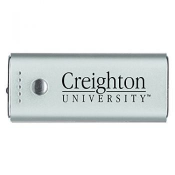 Creighton University -Portable Cell Phone 5200 mAh Power Bank Charger -Silver