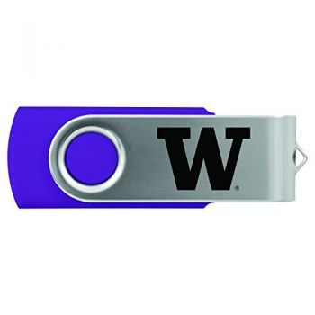 University of Washington-8GB 2.0 USB Flash Drive-Purple
