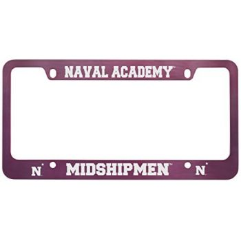 United States Naval Academy -Metal License Plate Frame-Pink