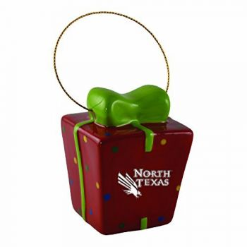 University of North Texas-3D Ceramic Gift Box Ornament