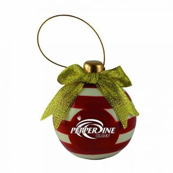 Pepperdine university -Christmas Bulb Ornament