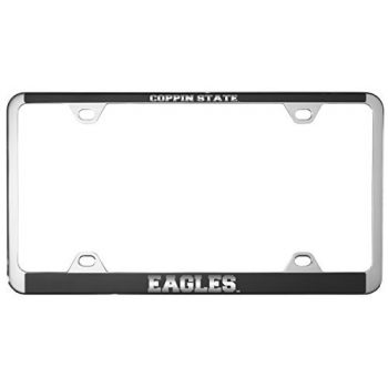 Coppin State University -Metal License Plate Frame-Black