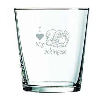 13 oz Cocktail Glass  - I Love My Pekingese