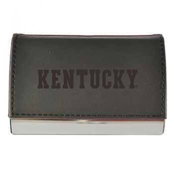 Velour Business Cardholder-University of Kentucky-Black