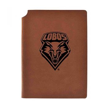 The University of New Mexico Velour Journal with Pen Holder|Carbon Etched|Officially Licensed Collegiate Journal|
